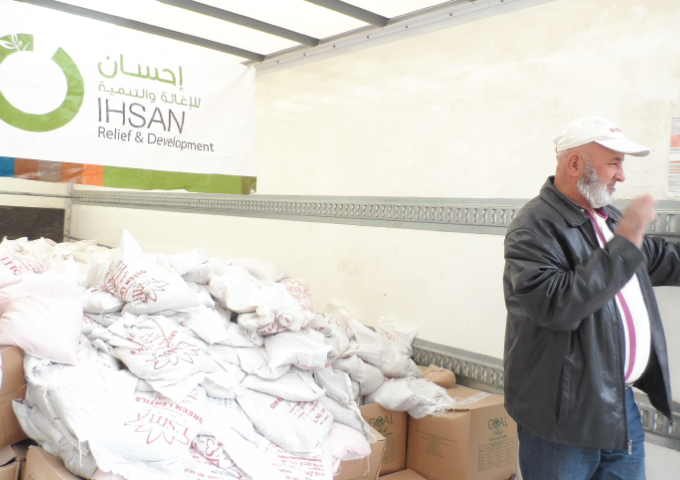 Distributing Food Baskets in Syria